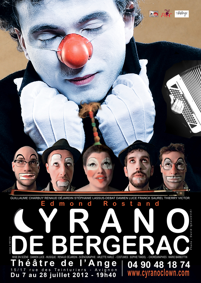 CYRANO DE  BERGERAC-VERSION CLOWNESQUE-AFFICHE